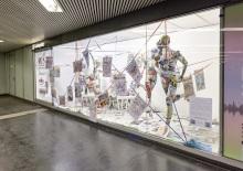 Austellung_Medien-die zweite Haut? von Birgit und Peter Kainz im Rahmen des Red Carpet Schowroom von 22.4.2020 bis 30.4.2020 am Karlskplatz Wien. Untergeschoß unter der U2